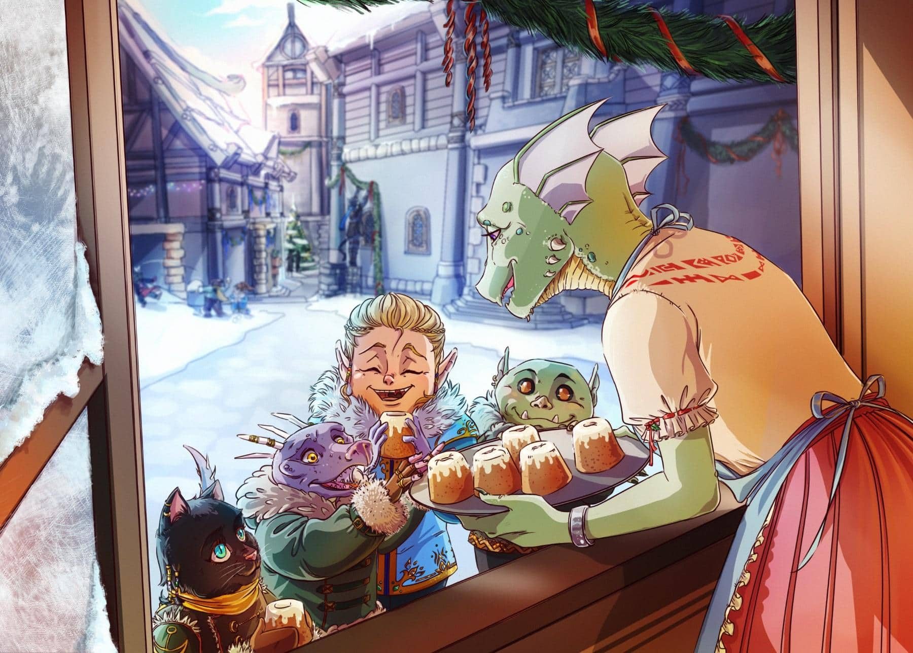 Winners Of The Eso Holiday Fan Art Contest The Elder