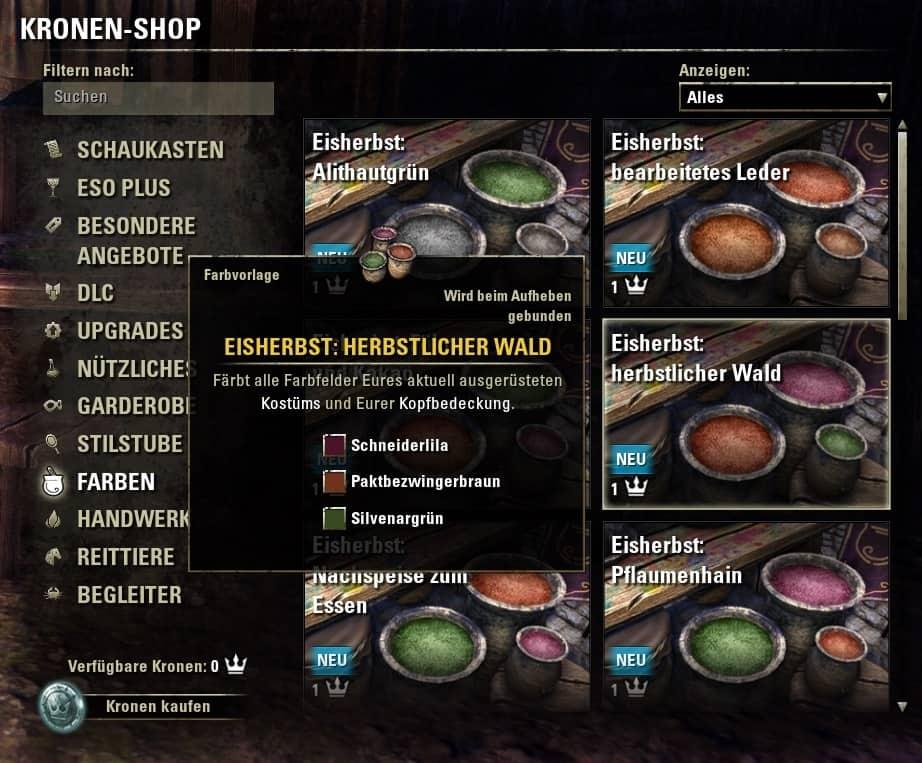 Leitfaden zu Update 11: Kostüme färben - The Elder Scrolls Online