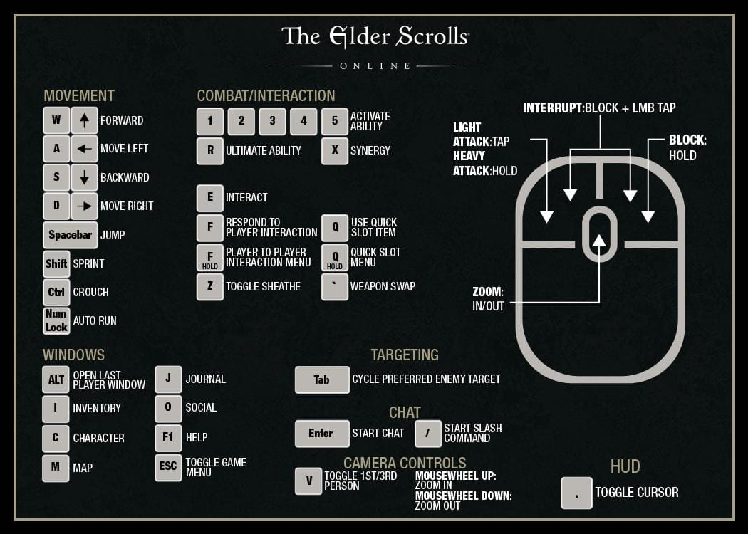 New Player Guide: Controls and Keybindings - The Elder