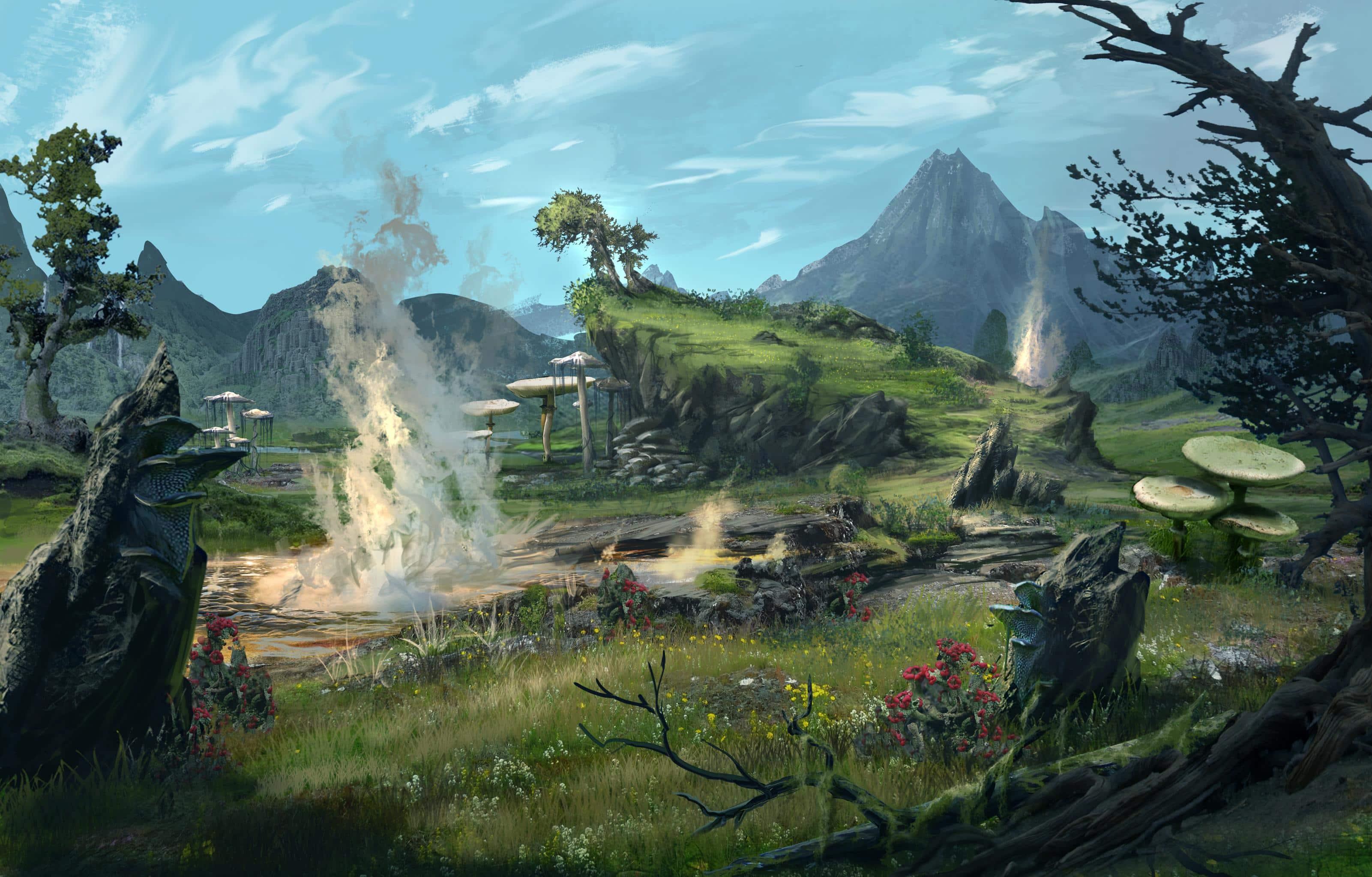 Eso morrowind vvardenfell flora and fauna the elder - Morrowind wallpaper ...