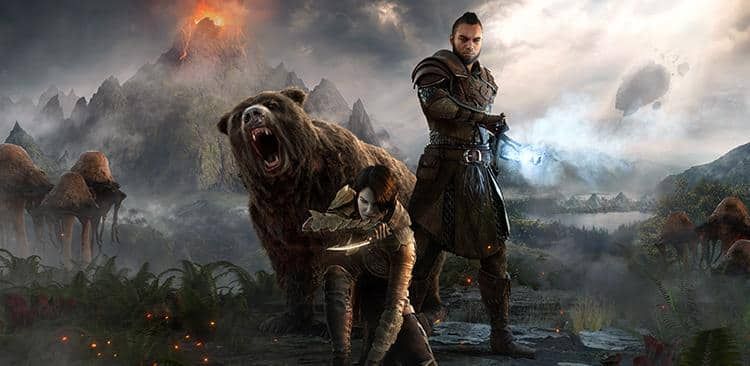 download the new eso morrowind hero art wallpaper