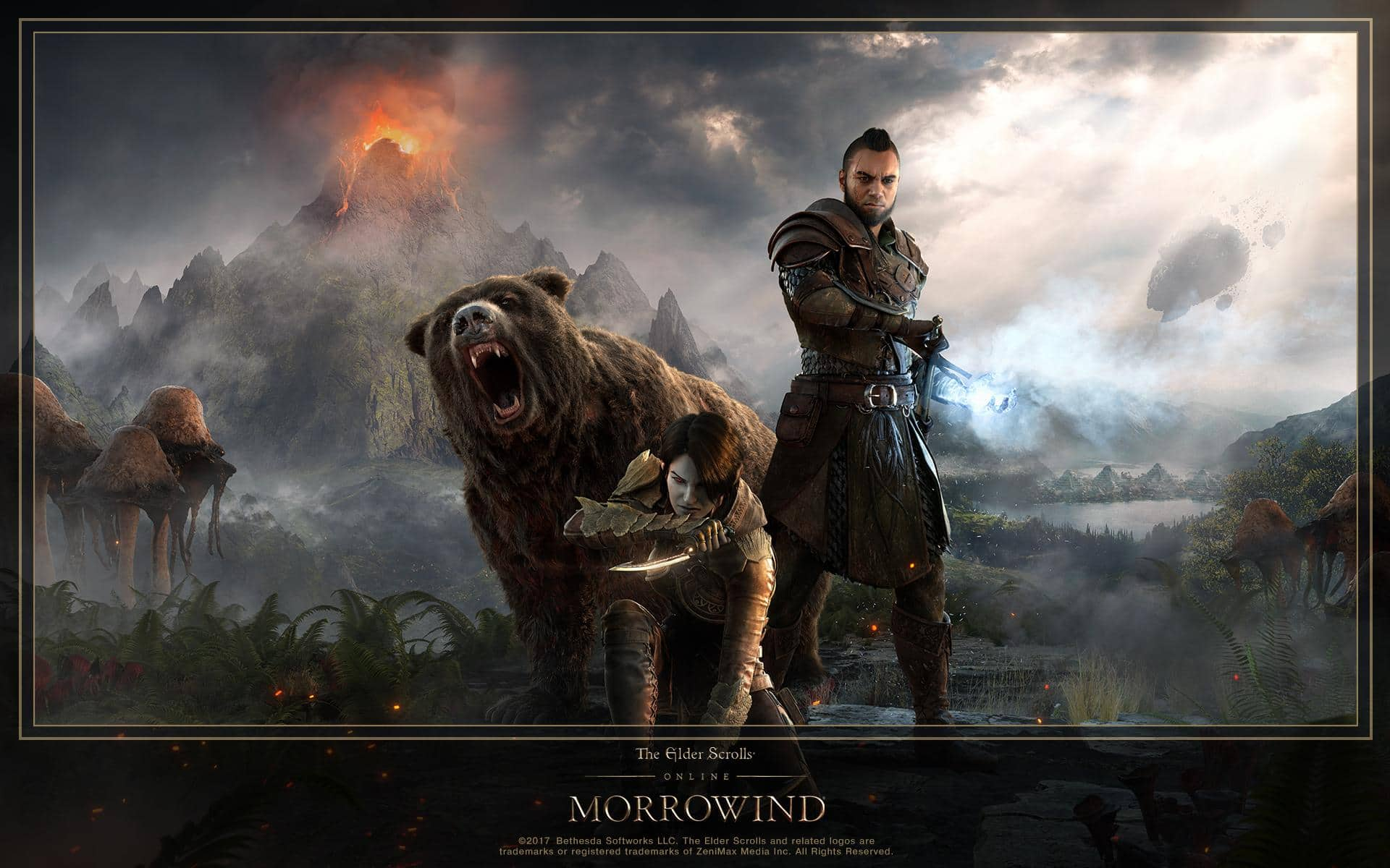 Download The New Eso Morrowind Hero Art Wallpaper The Elder