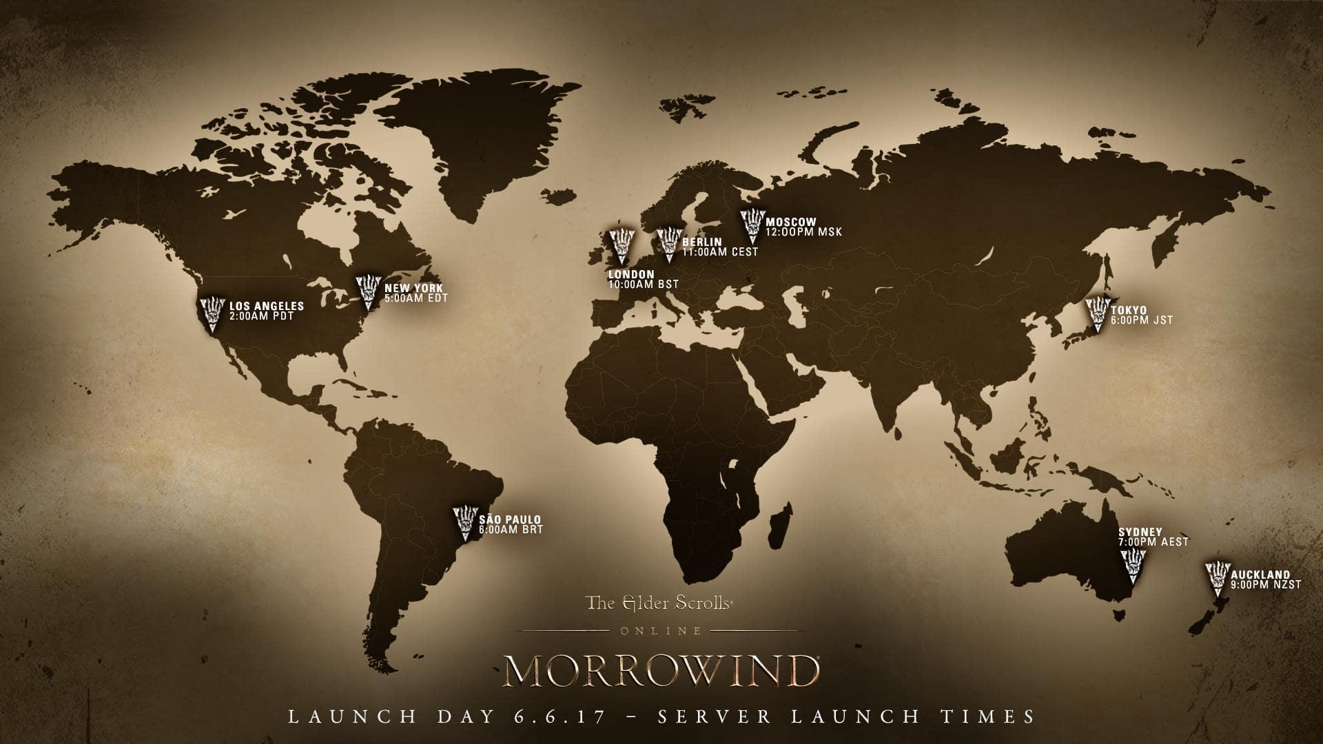 Launch Details for The Elder Scrolls Online Morrowind  The Elder