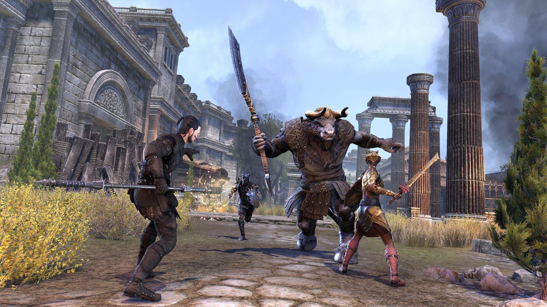 Сражайтесь с монстрами на землях поместья